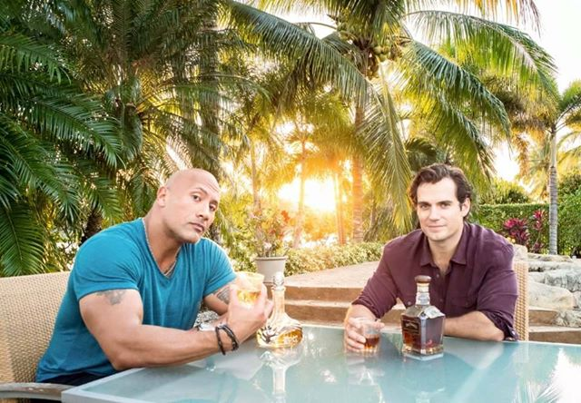 Dwayne Johnson and Henry Cavill