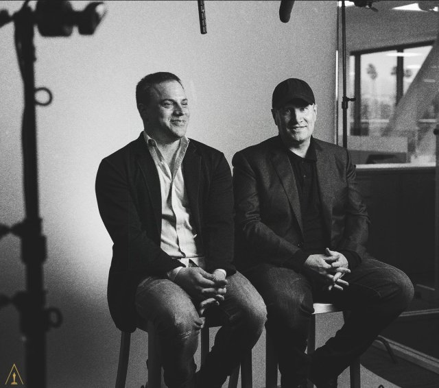 Kevin Feige and Geoff Johns
