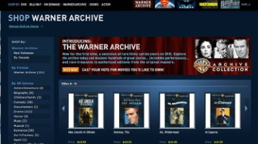 Warner Archive screen shot