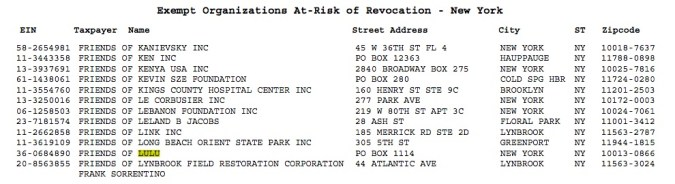 Revocation list excerpt