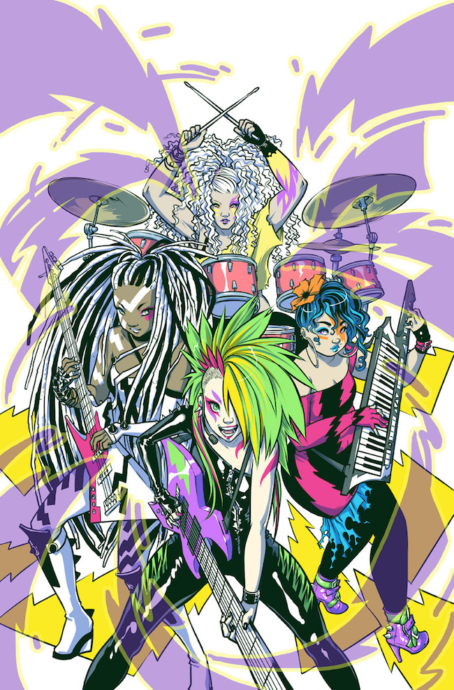 Jem and the Holograms #2 cover by Ross Campbell