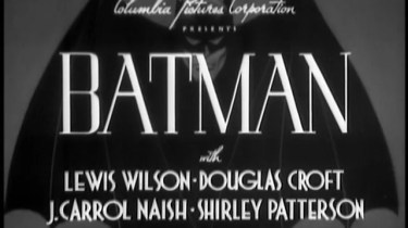 1943 Batman serial title card