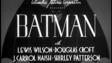 1943 Batman serial title card