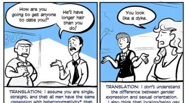 Comic about short hair by Rhea Ewing