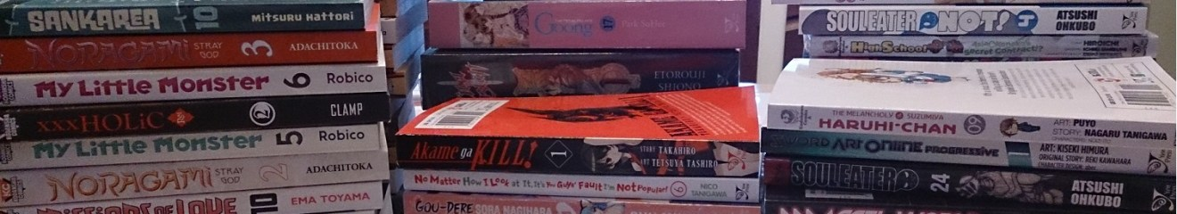 Stacks of manga