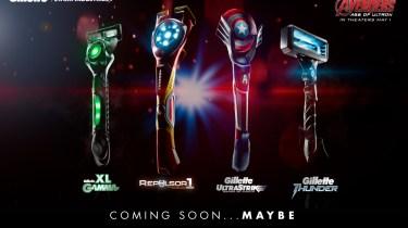 Gillette Avengers razors