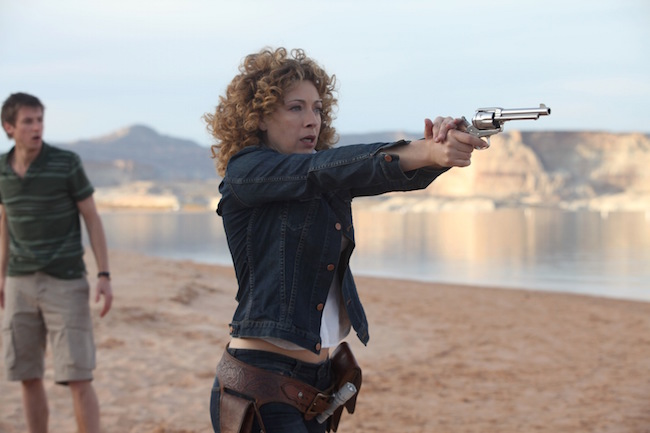 Alex Kingston as River Song in Episode 1