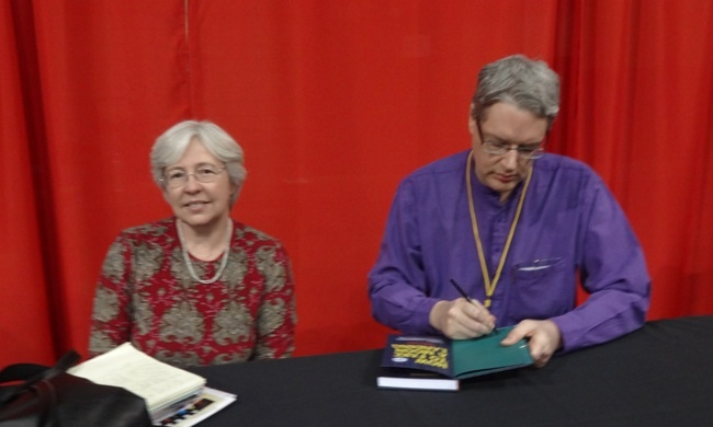 Brigid Alverson and Darryl Cunningham at MoCCA 2013