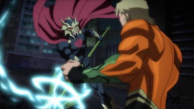 Aquaman battles Ocean Master in Justice League: Throne of Atlantis