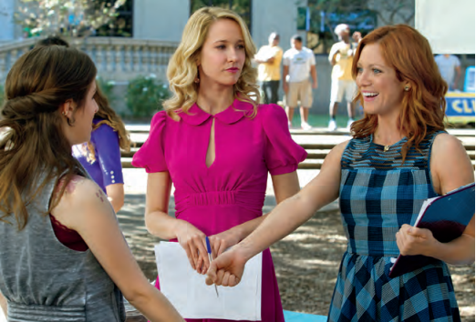 Anna Kendrick, Anna Camp, and Brittany Snow in Pitch Perfect