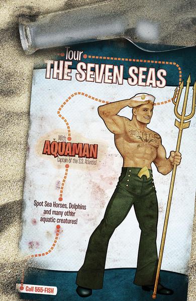 Aquaman #43 bombshells variant cover