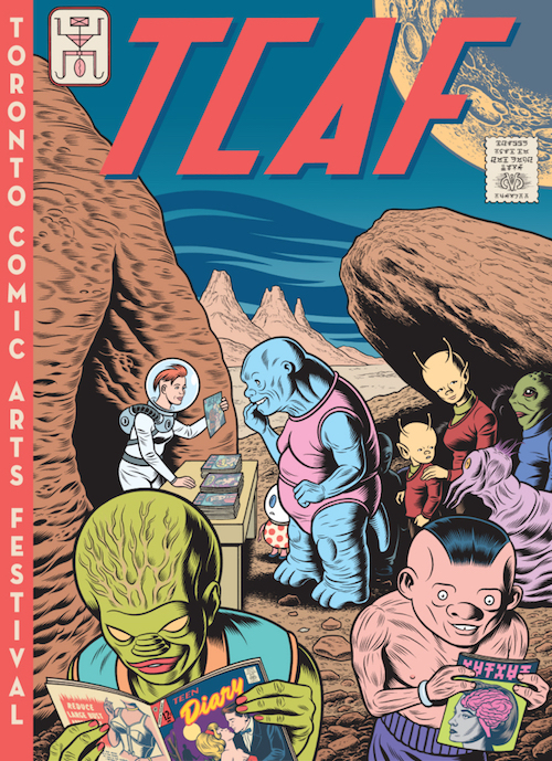 TCAF 2015 poster by Charles Burns