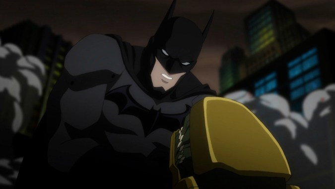 Batman fights a Parademon in Justice League: War