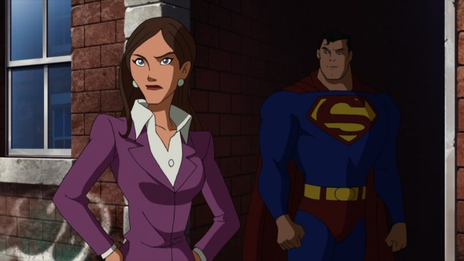 Lois Lane and Superman in Superman vs. the Elite