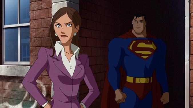 Lois Lane and Superman in Superman vs. the Elite