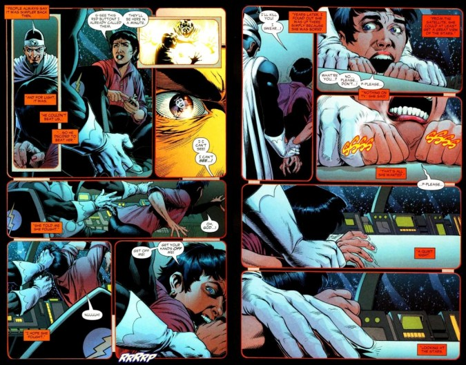 Sue Dibny raped by Dr. Light