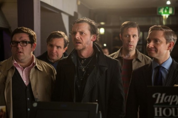 Nick Frost, Eddie Marsan, Simon Pegg, Paddy Considine, and Martin Freeman in The World's End