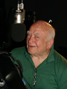 Ed Asner reprises his Justice League role as Granny Goodness. (Photo courtesy of Gary Miereanu)