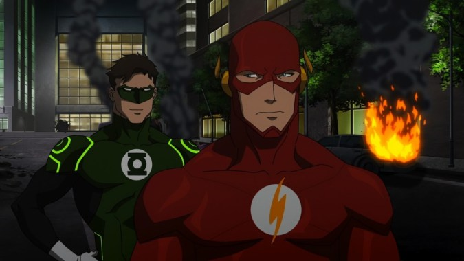 Green Lantern and Flash in Justice League: War