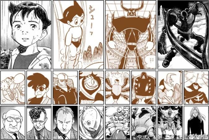 Pluto / Astro Boy character comparison