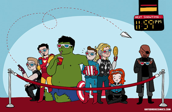 Avengers print by Kate Leth