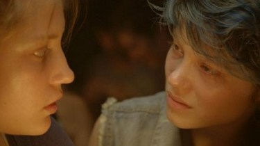 Adèle Exarchopoulos, left, and Léa Seydoux in Blue Is the Warmest Color