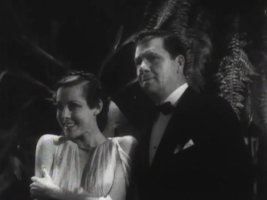 Elaine (Frances Dee) gets excited watching the hulu at a party with Bill Bailey (George Bancroft)