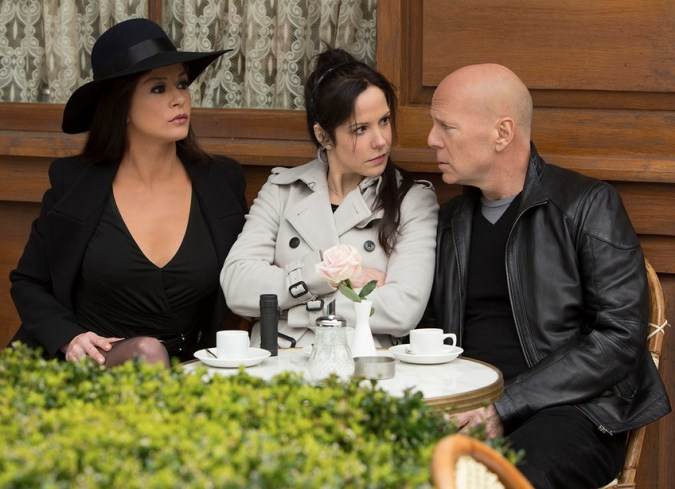 Catherine Zeta-Jones, Mary-Louise Parker, and Bruce Willis in Red 2