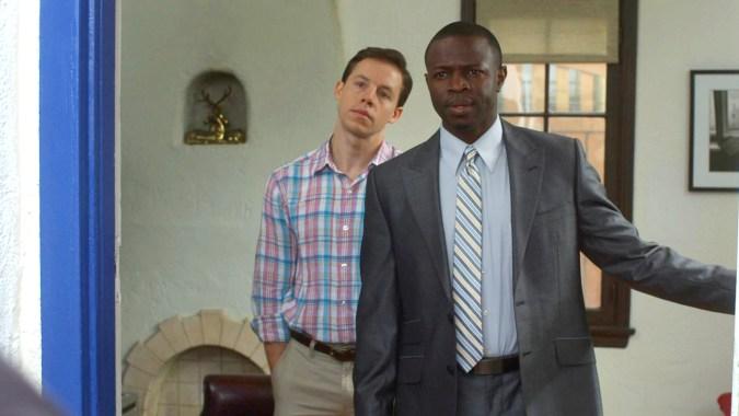 Blake Bashoff and Sean Patrick Thomas in Finding Neighbors