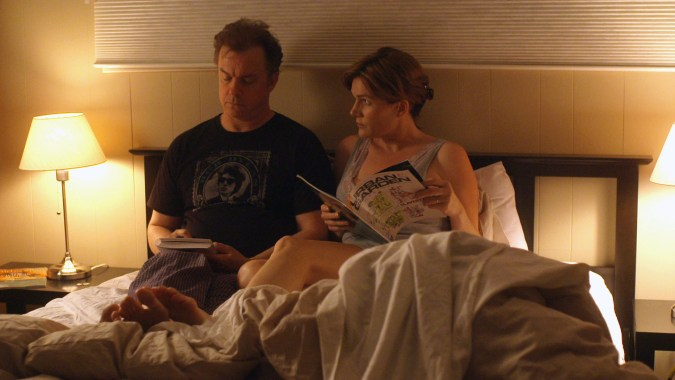 Michael O'Keefe and Catherine Dent in Finding Neighbors