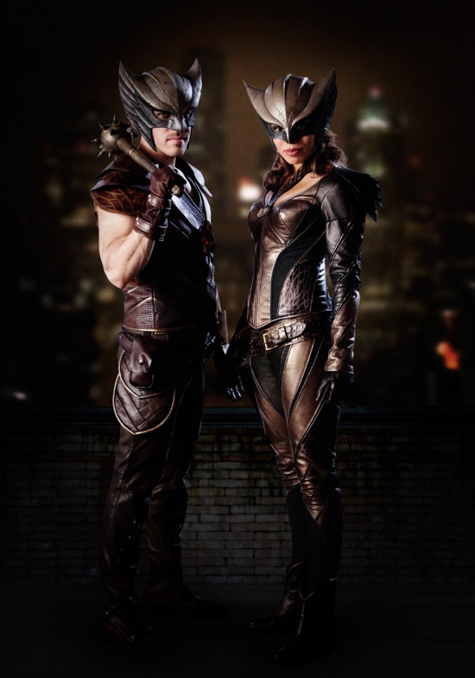 Hawkman and Hawkgirl TV costumes
