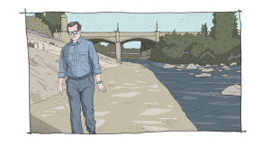 Michael O'Keefe in Finding Neighbors (art version)