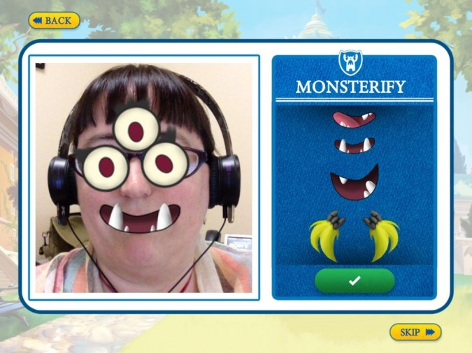 Monsters University Storybook app