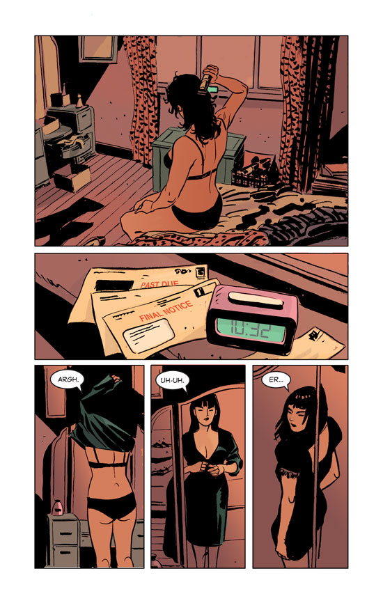 Ashes page drawn by Jimmy Broxton