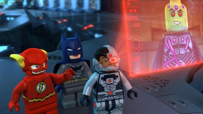 Flash, Batman, and Cyborg in LEGO DC Comics Super Heroes: Justice League: Cosmic Clash