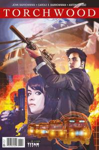 Torchwood #1 cover by  Tommy Lee Edwards