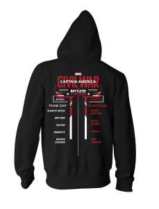 Civil War hoodie back mockup