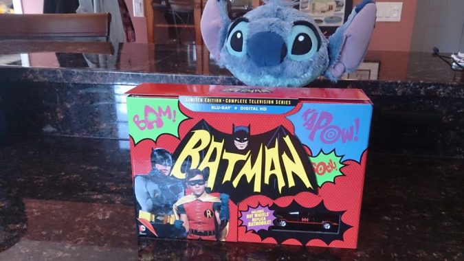 The Batman: The Complete TV Series box, with display window for the toy Batmobile