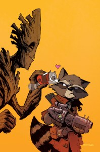 Rocket Raccoon and Groot #8 Tsum Tsum Takeover Variant