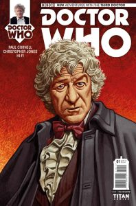 Doctor Who: The Third Doctor #1 cover by Paul McCaffrey