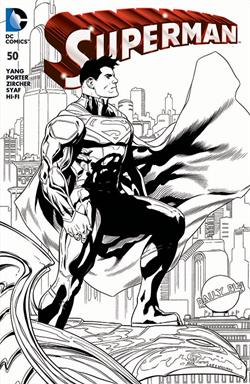 Superman #50 Wizard World Chicago black and white variant by Patrick Gleason