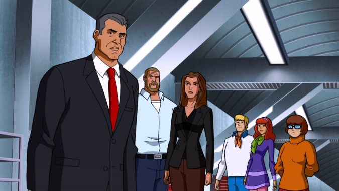 Vince McMahon, Triple H, and Stephanie in Scooby-Doo! and WWE: Curse of the Speed Demon
