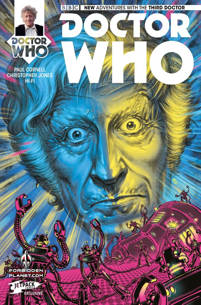 Doctor Who: The Third Doctor #1 Forbidden Planet/Jetpack variant cover by Boo Cook