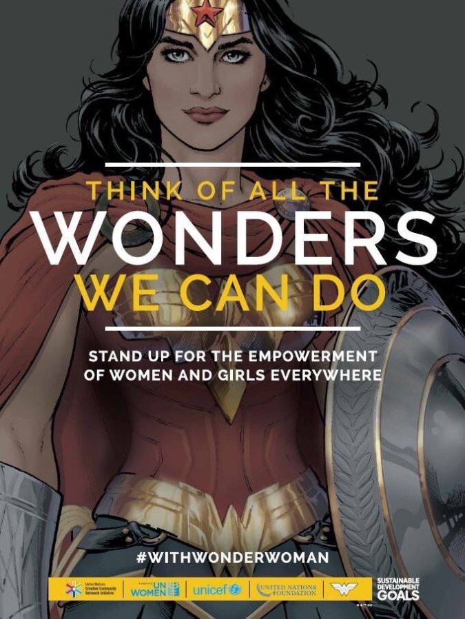 Wonder Woman United Nations campaign art by Nicola Scott