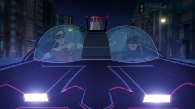 The Batmobile in Batman: Return of the Caped Crusaders