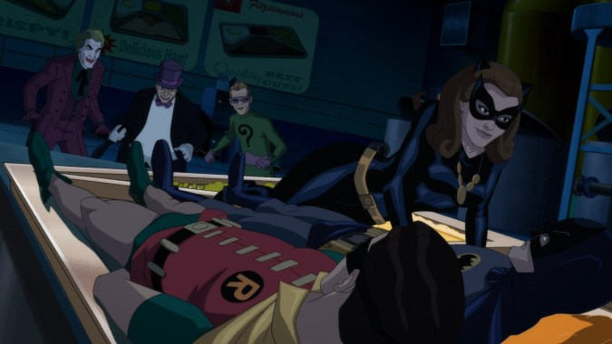 The villains in Batman: Return of the Caped Crusaders