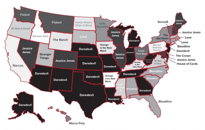 Netflix Originals state map