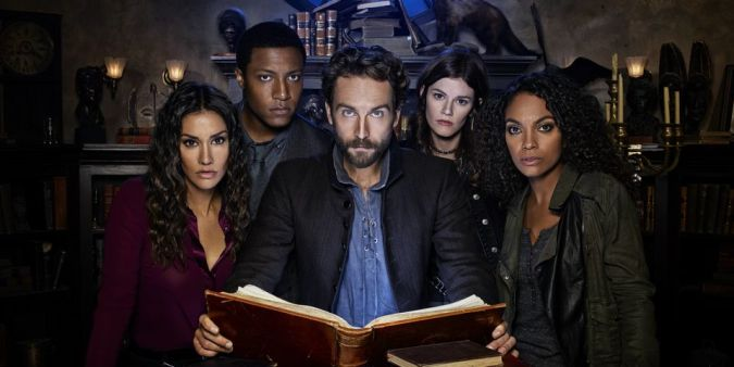 Janina Gavankar, Jerry MacKinnon, Tom Mison, Rachel Melvin, and Lyndie Greenwood in Sleepy Hollow season 4