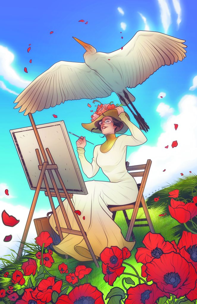 Eleanor & the Egret #1 variant cover by Elizabeth Torque