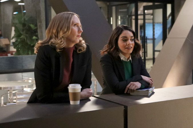 Powerless: Christina Kirk as Jackie and Vanessa Hudgens as Emily